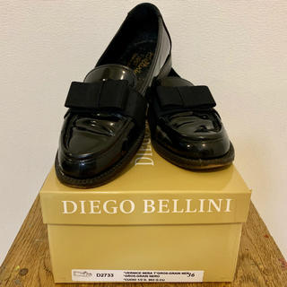 ディエゴベリーニ(DIEGO BELLINI)の【値下】DIEGO BELLINI ベリーニ ローファー エナメル 36(ローファー/革靴)