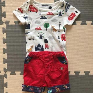 キムラタン(キムラタン)の美品 男の子 夏物セット 80cm(Tシャツ)