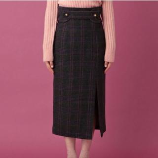 デイシー(deicy)のUK WOOL チェックタイトスカート(ひざ丈スカート)