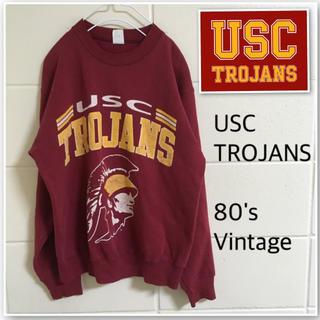 ビンテージ 80s USC トロージャンズ メンズS スウェット トレーナー(アメリカンフットボール)