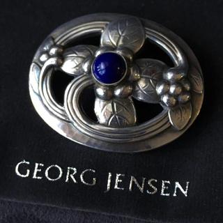 ジョージジェンセン(Georg Jensen)のジョージジェンセン ブローチ#138 ラピスラズリ デンマーク製(ブローチ/コサージュ)