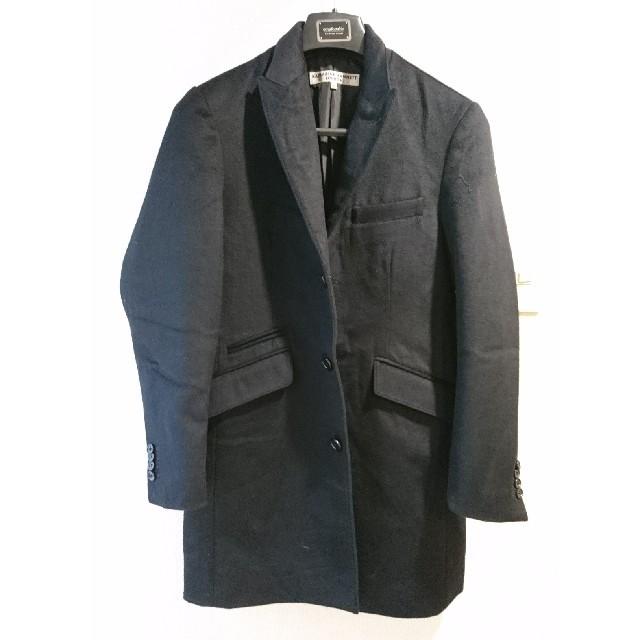 KATHARINE HAMNETT(キャサリンハムネット)のkatharine Hammett London チェスターコート Sサイズ メンズのジャケット/アウター(チェスターコート)の商品写真