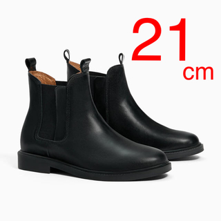 ザラキッズ(ZARA KIDS)の日曜までの出品❗️ZARAKIDS 新品 サイドゴアレザーアンクルブーツ(ブーツ)