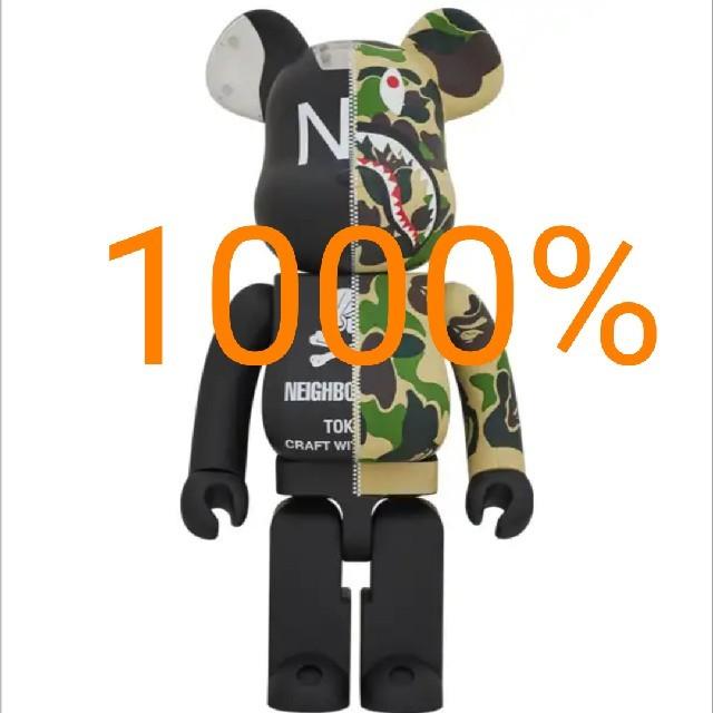 A BATHING APE(アベイシングエイプ)のAPE NBHD 1000% BE@RBRICK メンズのファッション小物(その他)の商品写真