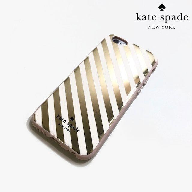 kate spade new york - ケイトスペード iphone スマホケース ストライプ ゴールド 181222の通販 by ゆみこ's shop|ケイトスペードニューヨークならラクマ