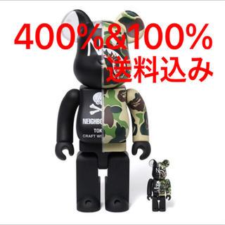 BAPE NBHD ABC SHARK BE@RBRICK 400%&100%