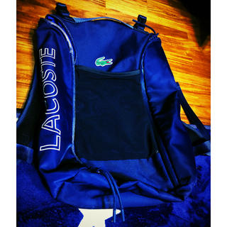 b6c8905afd4a ラコステ(LACOSTE)の訳ありラコステLACOSTEリュック鞄バックパック1212ネイビー紺色