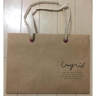 アングリッド(Ungrid)の送料無料 Ungrid ショッパー アングリッド ショップ袋(ショップ袋)