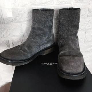 コスチュームナショナル(CoSTUME NATIONAL)のスチューム ナショナル スエードzipメンズブーツ size6 1/2(ブーツ)