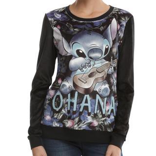 ディズニー(Disney)のラウンジフライ スティッチ ベロア Tシャツ(Tシャツ(長袖/七分))