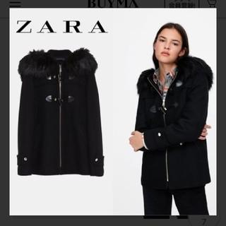 ザラ(ZARA)のZARA ファーダッフルコート(ダッフルコート)