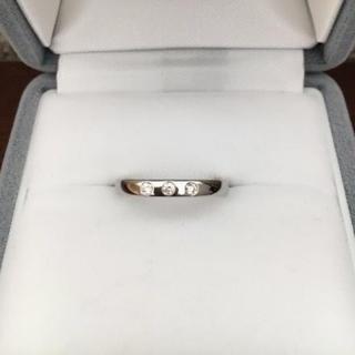 デビアス(DE BEERS)のDE BEERS デビアス スリーダイヤモンド リング Pt950 3.1g(リング(指輪))