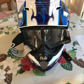 モトクロス ヘルメットとゴーグル(モトクロス用品)