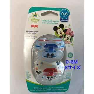 ディズニー(Disney)の国内未発売❗️0-6M NUK ミッキーマウス おしゃぶり 2個セット(その他)