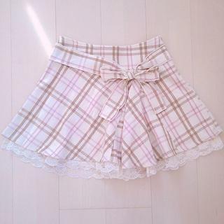 リズリサ(LIZ LISA)のLIZLISA*ストロベリーホワイトチョコレートチェックスカート(ひざ丈スカート)