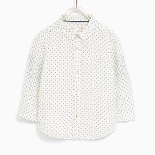 ザラ(ZARA)の新品タグ付 ザラベビー フラワー柄プリント地シャツ 100(Tシャツ/カットソー)