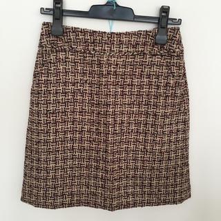 インコテックス(INCOTEX)のincotex ツイード スカート(ひざ丈スカート)