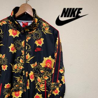 ナイキ(NIKE)のナイキ トラック ジャージ 花柄 フローラル 刺繍ロゴ オーバーサイズ XL(ジャージ)