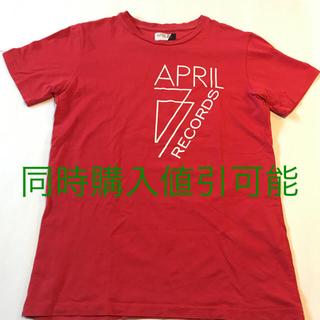 エイプリルセブンティセブン(April77)のAPRIL77 RECORDS Tシャツ S エイプリル77 エイプリルレコード(Tシャツ/カットソー(半袖/袖なし))