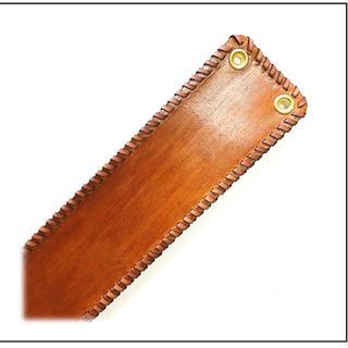 三線 胴巻き ティーガー 高級本牛革 ブラウン 革紐飾り:シングルステッチ(三線)
