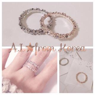 ★新品★キラキラ付きシンプルリング(リング(指輪))