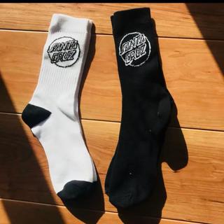 ステューシー(STUSSY)のSanta Cruz ソックス 靴下 靴した ホワイト ブラック 2足(ソックス)