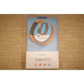 【新品】スマートウォッチ Honor Band3(オレンジ)(腕時計(デジタル))