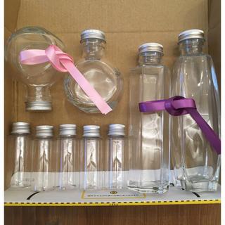 ハーバリウムボトル 4種  リボン2色付き♪(ドライフラワー)