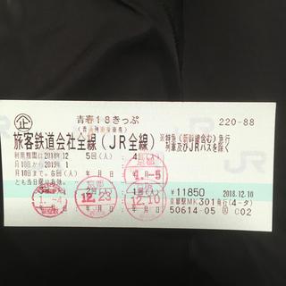 ジェイアール(JR)の青春18きっぷ 残り一回(鉄道乗車券)