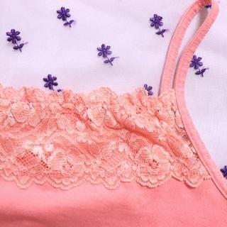 エルプラネット(ELLE PLANETE)のpink♡camisole tops(キャミソール)