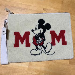 ディズニー(Disney)の新品タグ付き ディズニー☆ミッキーマウス クラッチバッグ(クラッチバッグ)