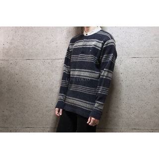 [used]'異素材mix'  crocodile knit tops.(ニット/セーター)