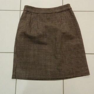ムジルシリョウヒン(MUJI (無印良品))の【美品】チェックスカート(ひざ丈スカート)