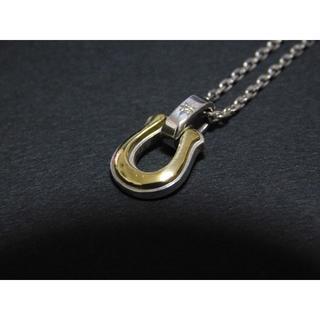 エスオーエスエフピー(S.O.S fp)のシンパシーオブソウル ホースシュー ネックレス シルバー×真鍮×ダイヤ SOS(ネックレス)