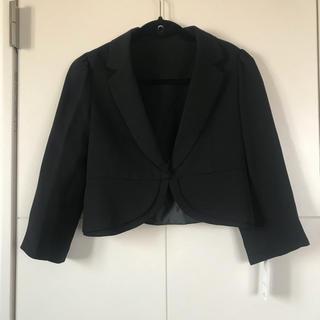 ボレロ風 黒 シンプル ショート丈 ジャケット 新品タグ付き 結婚式(ボレロ)