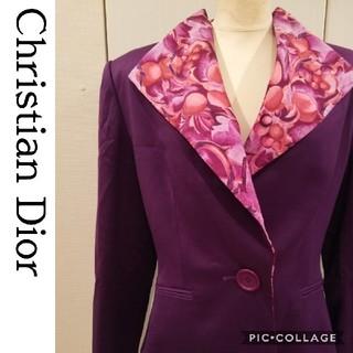 クリスチャンディオール(Christian Dior)の【Christian Dior】フルーツ柄セットアップ シルク 高級(スーツ)