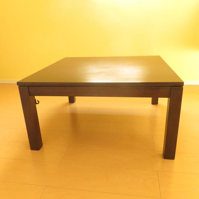 MUJI (無印良品)(ムジルシリョウヒン)の美品 無印良品 こたつ本体 正方形 ダークブラウン インテリア/住まい/日用品の机/テーブル(こたつ)の商品写真