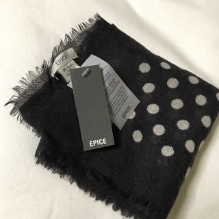 エピス(EPICE)のEpice エピス ウールスカーフ ドット柄 新品・未使用品(バンダナ/スカーフ)