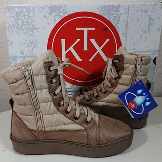 キンバーテックス(KIMBERTEX)の【24cm】KTX-TEXキンバーテックス/MAKO/スノーブーツ/アイボリー(ブーツ)
