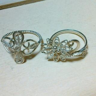 フェリシモ(FELISSIMO)のぽんぽこ様専用 シルバーリング(リング(指輪))