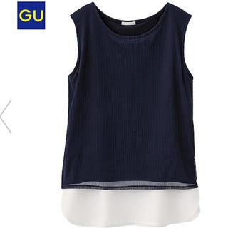 ジーユー(GU)のストライプレイヤードT(ノースリーブ) (シャツ/ブラウス(半袖/袖なし))