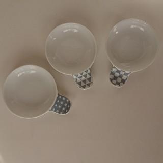 ハサミ(HASAMI)の箸置き付き豆皿 3枚セット 波佐見焼き 大人気 かわいい(食器)