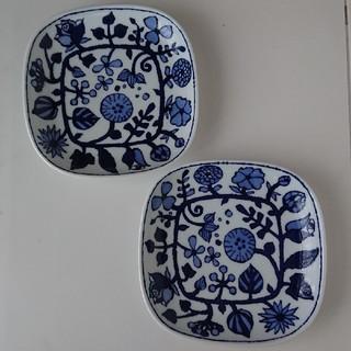 ハサミ(HASAMI)の【新品未使用】フラワーパレード 2枚セット 波佐見焼き 大人気 取り皿 おしゃれ(食器)