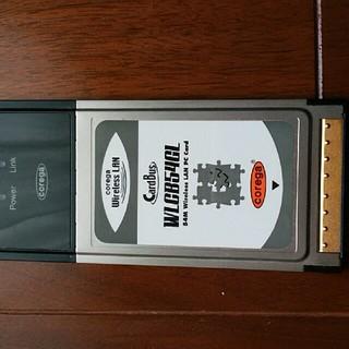 バッファロー(Buffalo)の無線LANカード WLCB54GL(ノートPC)