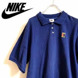 ナイキ(NIKE)の【希少】90Sヴィンテージ  NIKE テニスコートロゴ ポロシャツ Mサイズ (ポロシャツ)