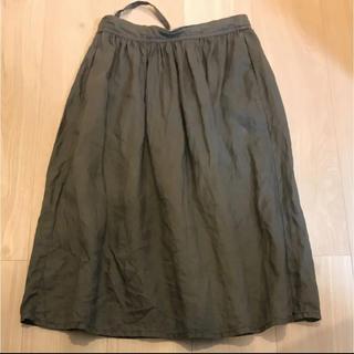 ムジルシリョウヒン(MUJI (無印良品))のフレンチリネンスカート(ひざ丈スカート)