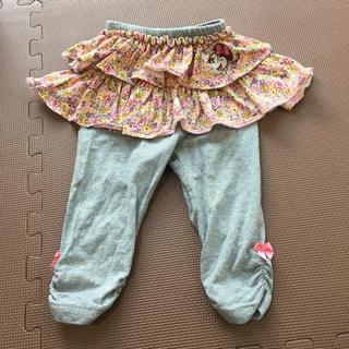 ディズニー(Disney)のスカート レギンス パンツ スカッツ 80 ディズニー ミニー 花柄(パンツ)
