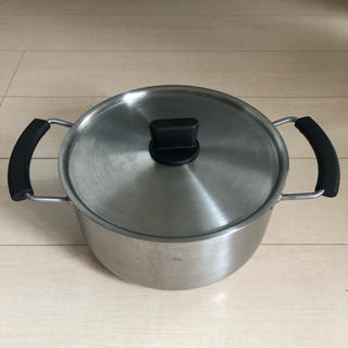 MUJI (無印良品) - 【値下げしました】【無印良品】22センチ 両手鍋