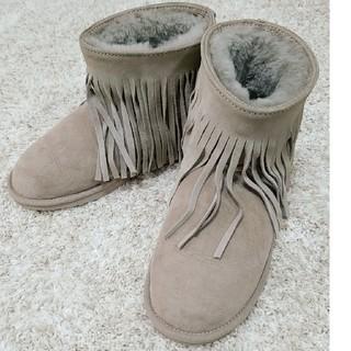 クーラブラ(Koolaburra)のKOOLABURRA フリンジムートンブーツ(ブーツ)
