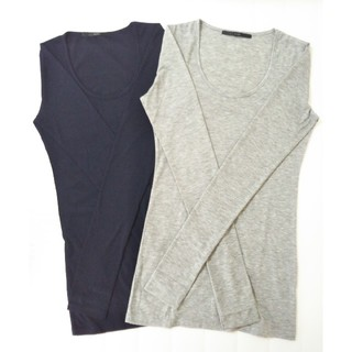 長袖ロングTシャツ 指ぬきタイプ 2枚組
